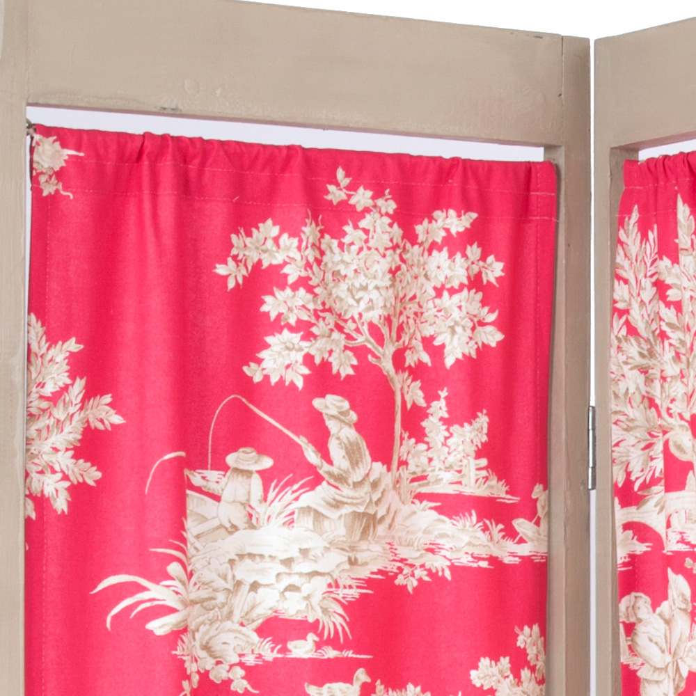Vintage Shabby Chic French Style Dressing Screen The
