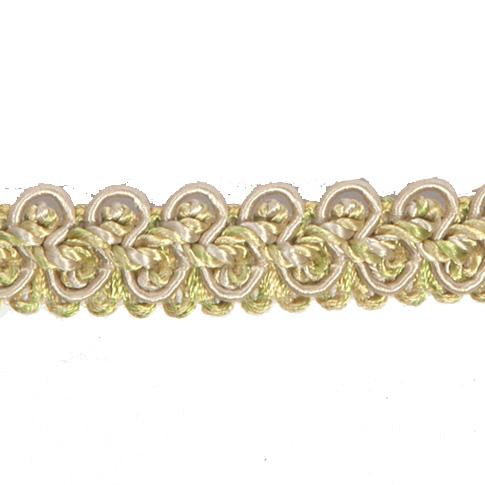 Lime Green & Gold Braid