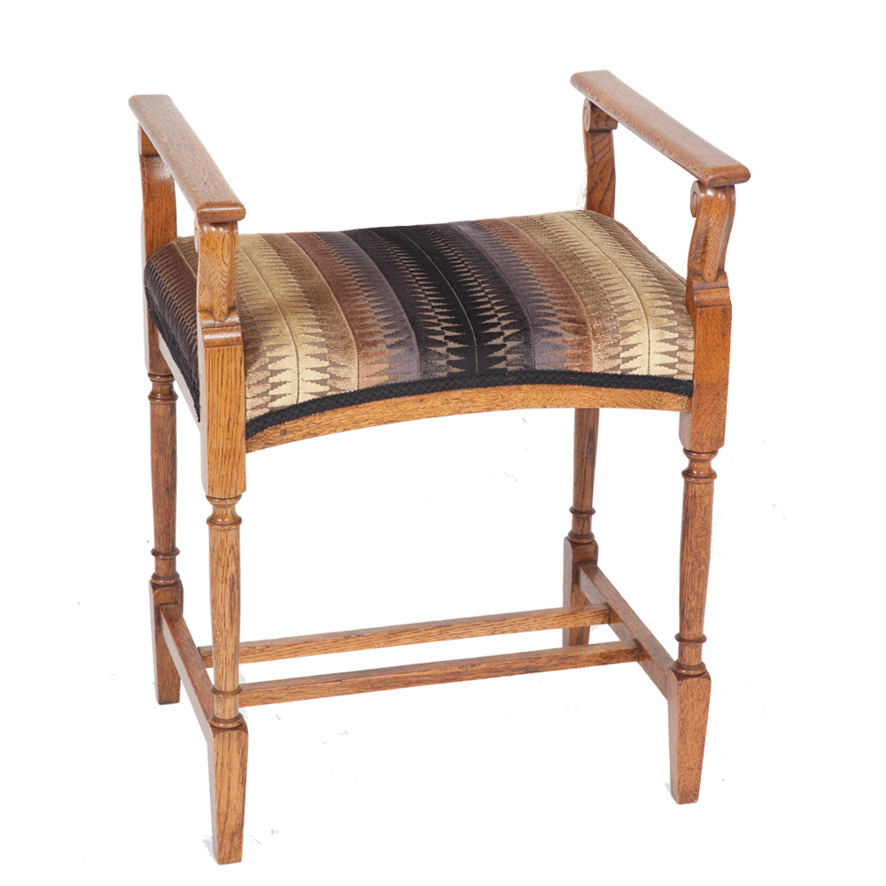 Early 20th Century Oak Music Stool The Unique Seat Company