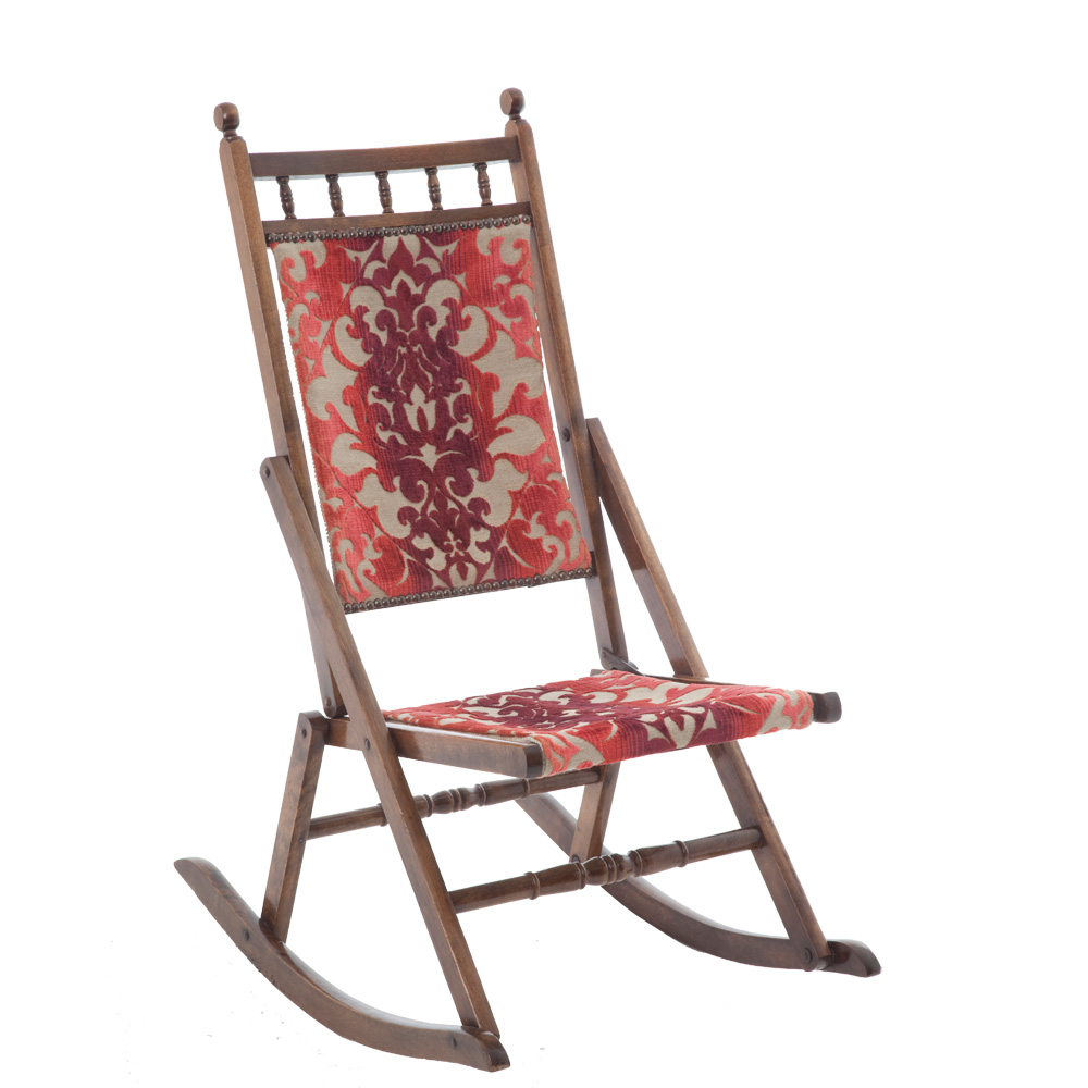 Edwardian Folding Rocking Chair The Unqiue Seat Company