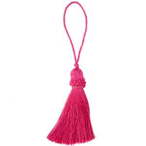 Hot Pink Key Tassel