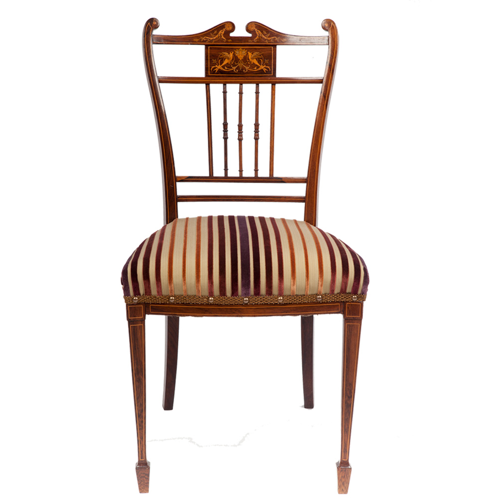 victorian occasional chair the unique seat company. Black Bedroom Furniture Sets. Home Design Ideas