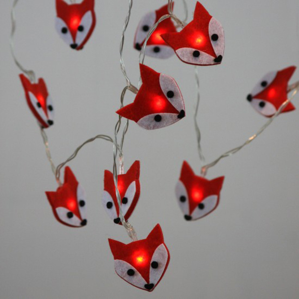 Felt Fox Fairy Lights Battery Operated The Unique Seat