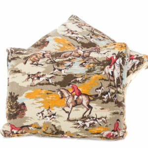 Pair of Hunting Scene Cushions