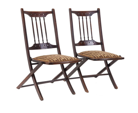 Pair of Edwardian Folding Chairs