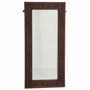 20th Century Carved Oak Mirror